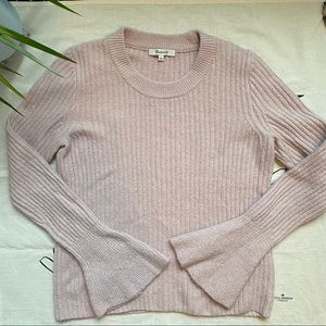 Madewell Iced Rose Bell Sleeve Sweater